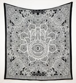 Wandbehang Fatimas Hand schwarz weiß