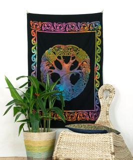 Wandposter keltischer Knoten batik bunt
