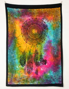Neu: Stoff Wandposter Traumfänger batik bunt