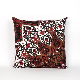Kissenbezug Stern Mandala schwarz rot braun