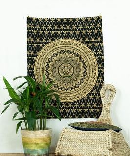 Gold Wandposter Ombre Mandala schwarz