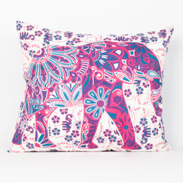 Kissen Lotus Elefant rosa lila