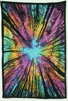 Wandtuch Wald Motiv batik