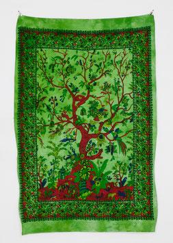 Wandposter Tree of Life grün
