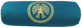 "Designer Yoga Bolster Rolle - ""Peace within"" petrol"