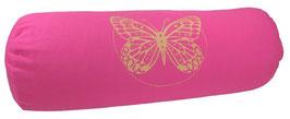 """Butterfly"" pink Designer Yoga Bolster Rolle"