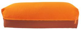 Yoga Bolster eckig orange + terracotta