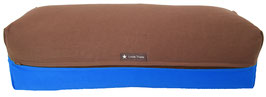 Yoga Bolster eckig braun + royal