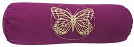 """""""Butterfly"""" aubergine Designer Yoga Bolster Rolle"""