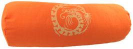 """Orange """"Dragon""""  Designer Yoga Bolster Rolle"""