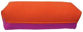 Yoga Bolster eckig  rotviolett + dunkelorange