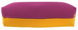 Yoga Bolster eckig  rotviolett + sonne