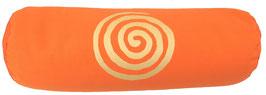 "Orange ""Spirale"" Designer Yoga Bolster Rolle"