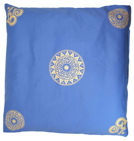 "Designer Meditations-Matte / Zabuton ""jeansblau Ur-Mandala Variation"""