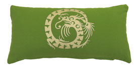 """Dragon"" kiwi Designer Yoga-Universal-Genie Kissen"