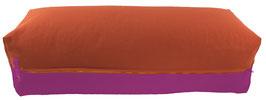 Yoga Bolster eckig terracotta + rotviolett