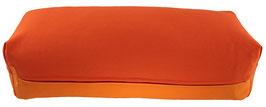 Yoga Bolster eckig dunkelorange + orange