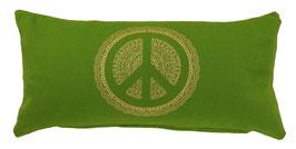 """Peace"" kiwi Designer Yoga-Universal-Genie Kissen"