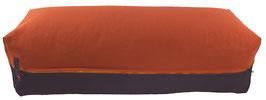 Yoga Bolster eckig terracotta + anthrazit