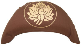 "Designer Halbmond Meditationskissen ""Lotus"" braun"
