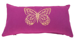 """Butterfly"" rotviolett Designer Yoga-Universal-Genie Kissen"