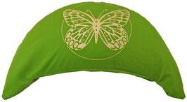 "Designer Halbmond Meditationskissen ""Butterfly"" kiwi"