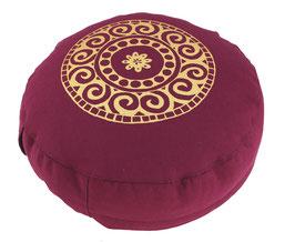 """Designer Meditationskissen Gr.S """"Mandala"""" aubergine"""