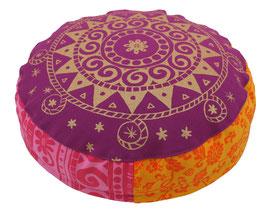 """Bollywood Ur-Mandala"" Designer Meditationskissen Yogakissen Gr.S"
