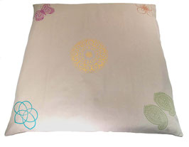 """Designer Meditations-Matte / Zabuton beige """"Mandala"""" + Farben"""