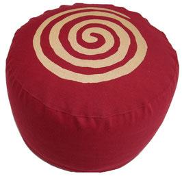 """Designer Meditationskissen Gr.L """"Spirale"""" bordeaux"""