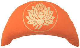 "Designer Halbmond Meditationskissen ""Lotus"" orange"