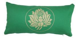 """Lotus"" grasgrün Designer Yoga-Universal-Genie Kissen"