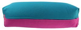 Yoga Bolster eckig petrol + rotviolett