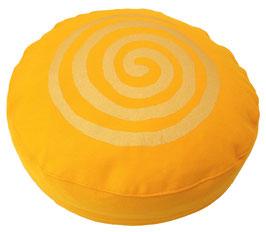 "Designer Meditationskissen Gr.S ""Spirale"" sonne"