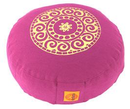 """Designer Meditationskissen Gr.S """"Mandala"""" rotviolett"""