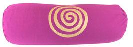 """Rotviolett """"Spirale"""" rotviolett Designer Yoga Bolster Rolle"""