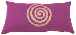 """""""Spirale"""" rotviolett Designer Yoga-Universal-Genie Kissen"""