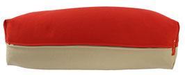 Yoga Bolster eckig  rot + beige