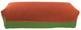 Yoga Bolster eckig terracotta + kiwi