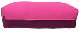 Yoga Bolster eckig pink + aubergine
