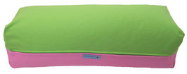 Yoga Bolster eckig apfelgrün + rosa