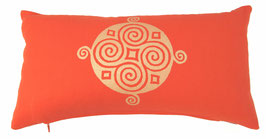 """Four Seasons"" dunkelorange Designer Yoga-Universal-Genie Kissen"