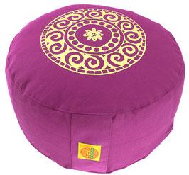 """Designer Meditationskissen Gr.L """"Mandala"""" rotviolett"""