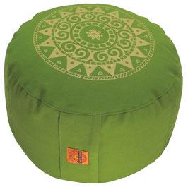 """Designer Meditationskissen Gr.L """"Ur-Mandala Variation"""" kiwi"""