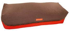 Yoga Bolster eckig braun + rot