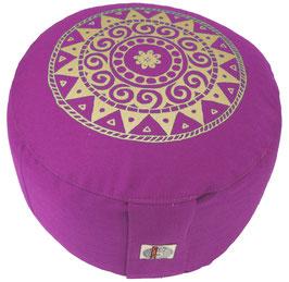 """""""Ur-Mandala Variation"""" rotviolett Designer Meditationskissen Gr.M"""