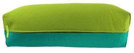 Yoga Bolster eckig kiwi + seegrün