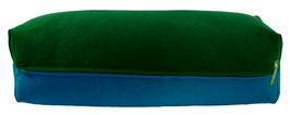 Yoga Bolster eckig dunkelgrün + petrol