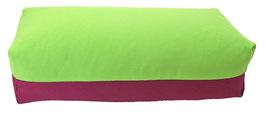Yoga Bolster eckig apfelgrün + aubergine