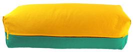 Yoga Bolster eckig  sonne + seegrün
